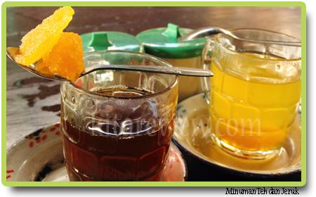 teh (gulabatu) dan jeruk